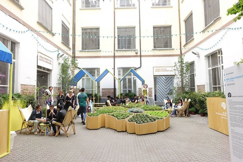 cortile spazio bergognone evento mini