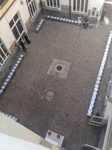 vista dall'alto giardino spazio borgognone 26